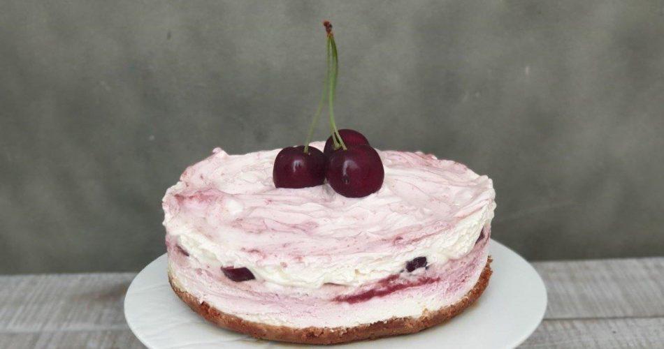 No-bake-cheesecake-met-kersen